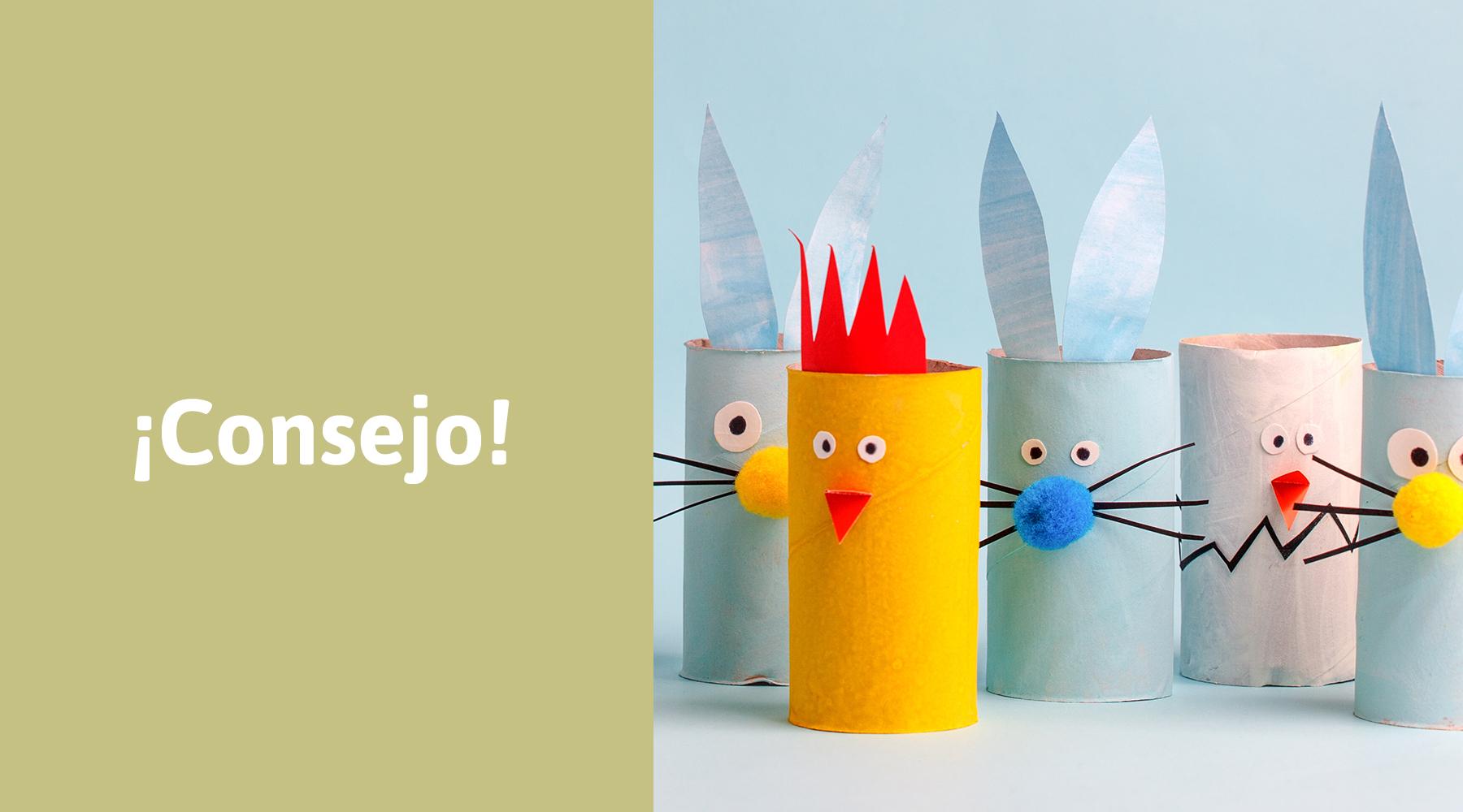 De rollo de papel a hermosos pollitos de Pascua
