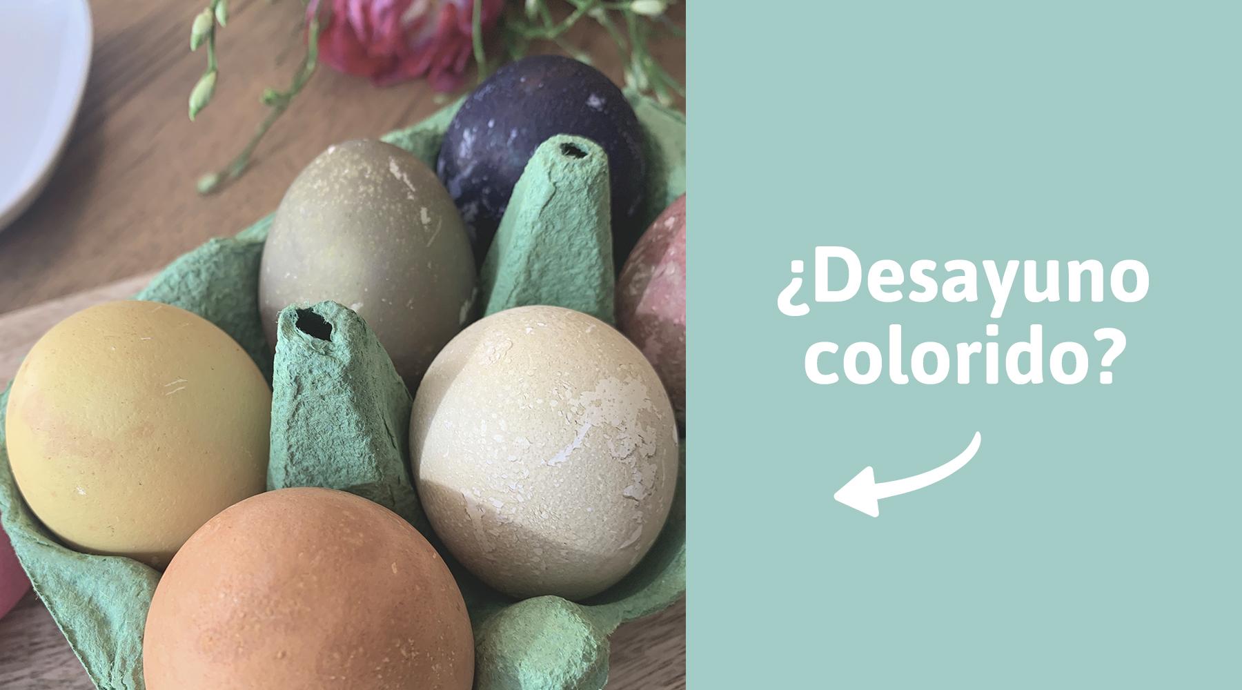 Para colorear huevos de forma natural: