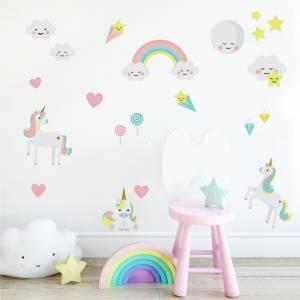 Adhesivos para pared: Unicornios