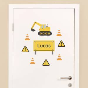 Adhesivos personalizables: Maquinaria de construcción