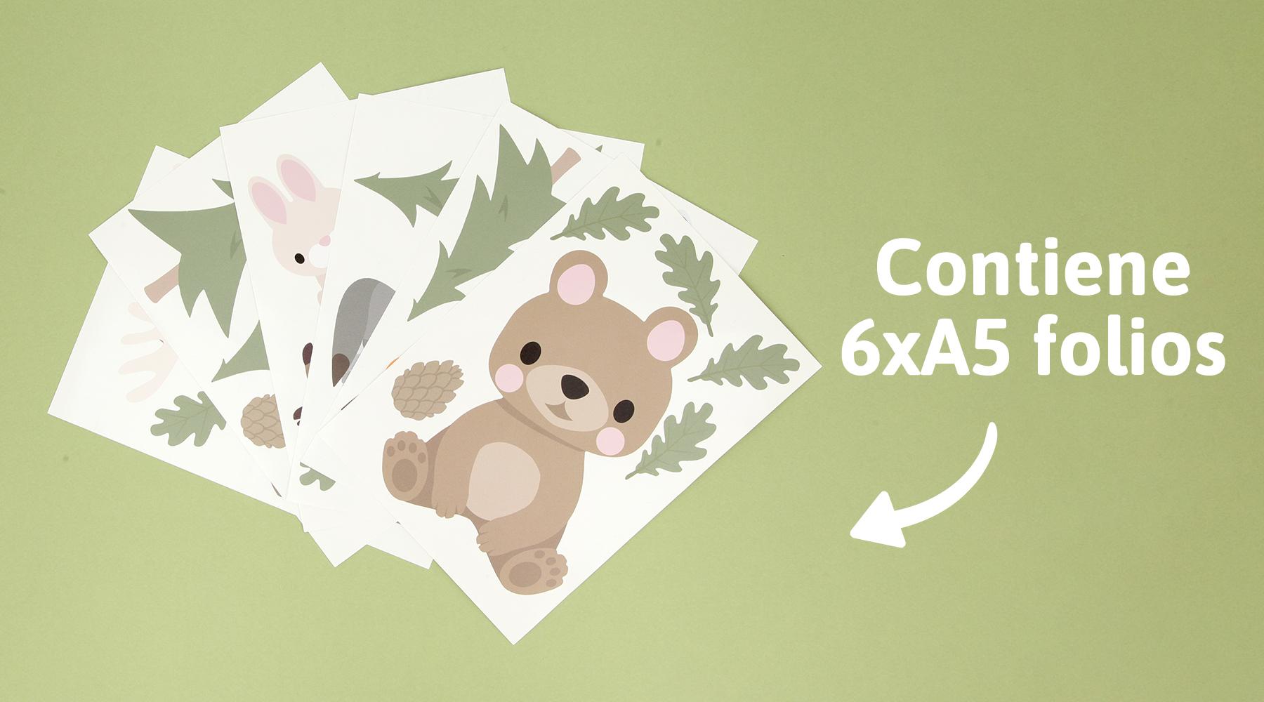 Adhesivos para pared: Animales del bosque