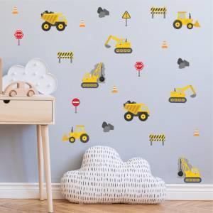 Adhesivos para pared: Excavadoras