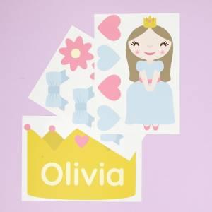 Adhesivos personalizables princesas