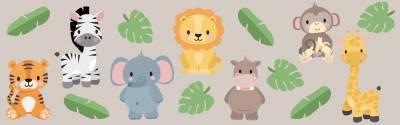 Adhesivos para pared: Animales exóticos