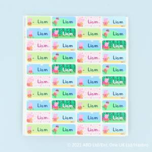 Coloridas etiquetas de Peppa Pig